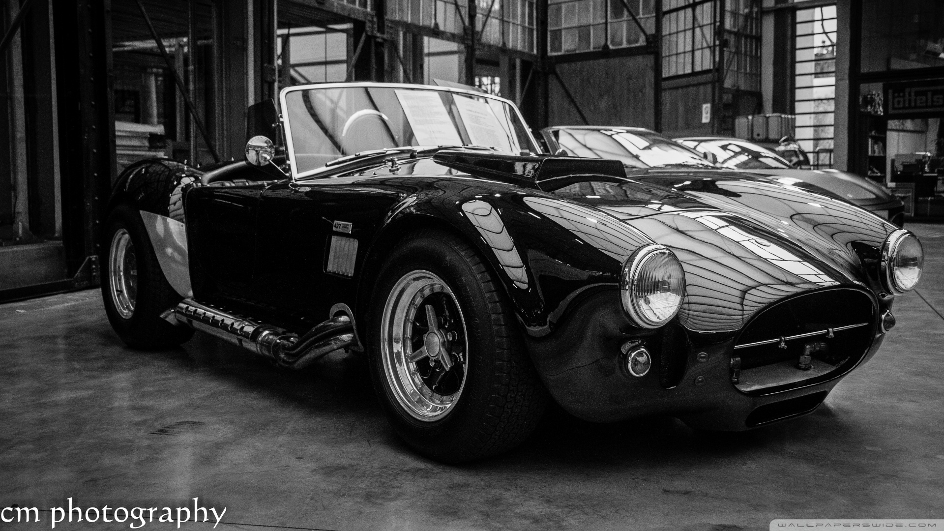 Shelby Cobra-wallpaper-1920x1080 B and W